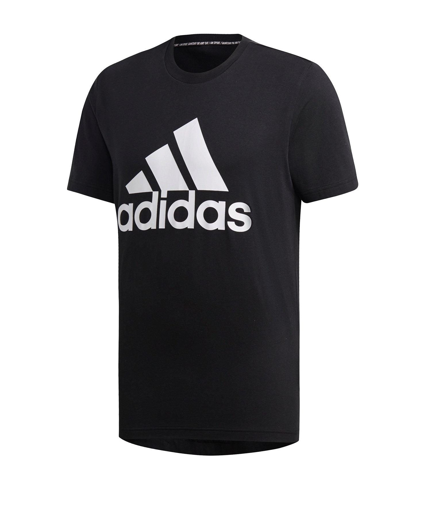 adidas Badge of Sport T-Shirt Schwarz Weiss - schwarz