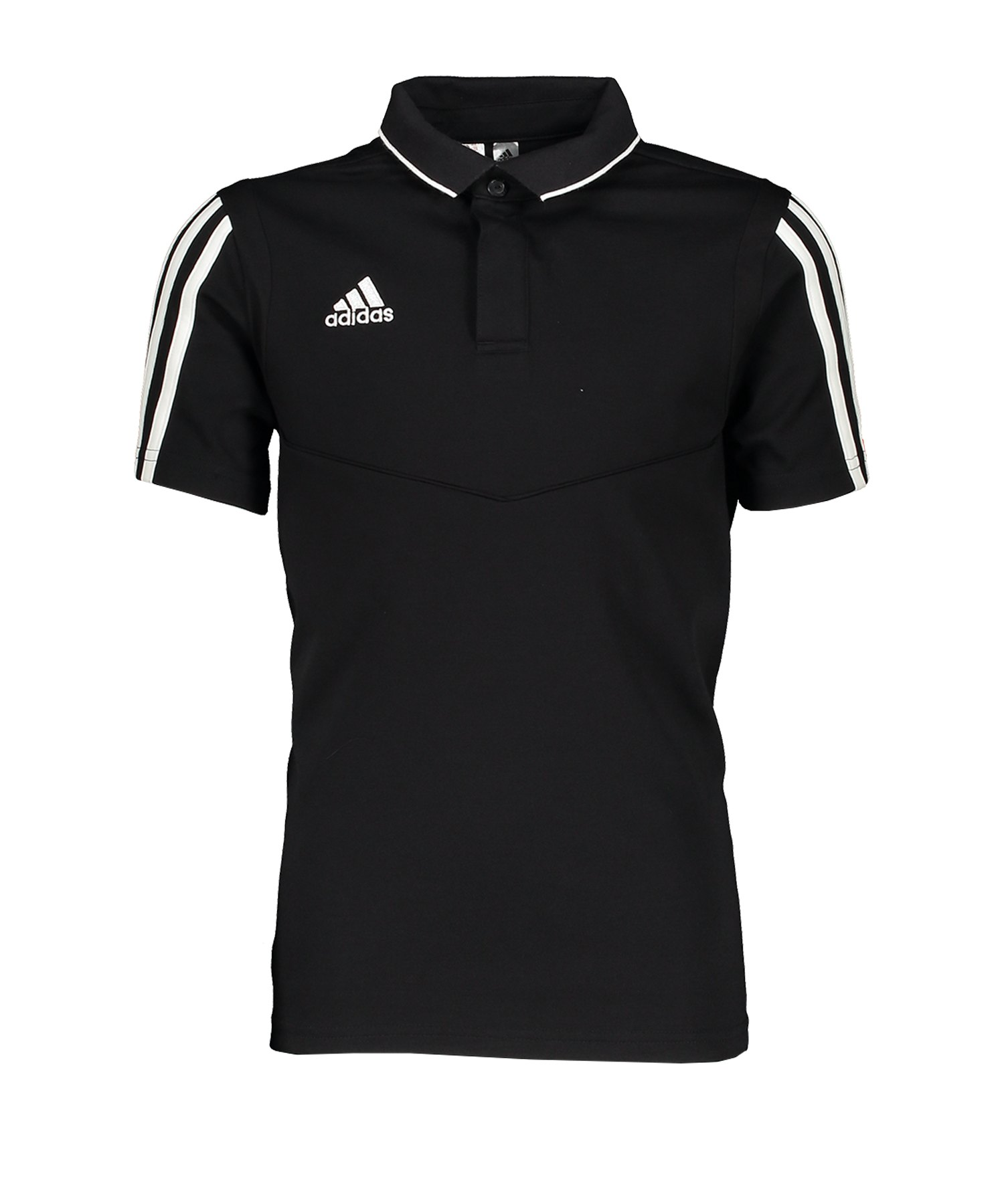 adidas Tiro 19 Poloshirt Kids Schwarz Weiss - schwarz