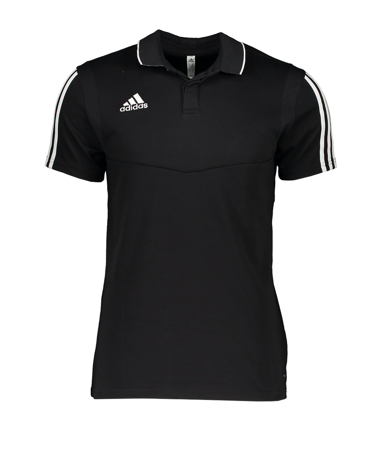 adidas Tiro 19 Poloshirt Schwarz Weiss - schwarz