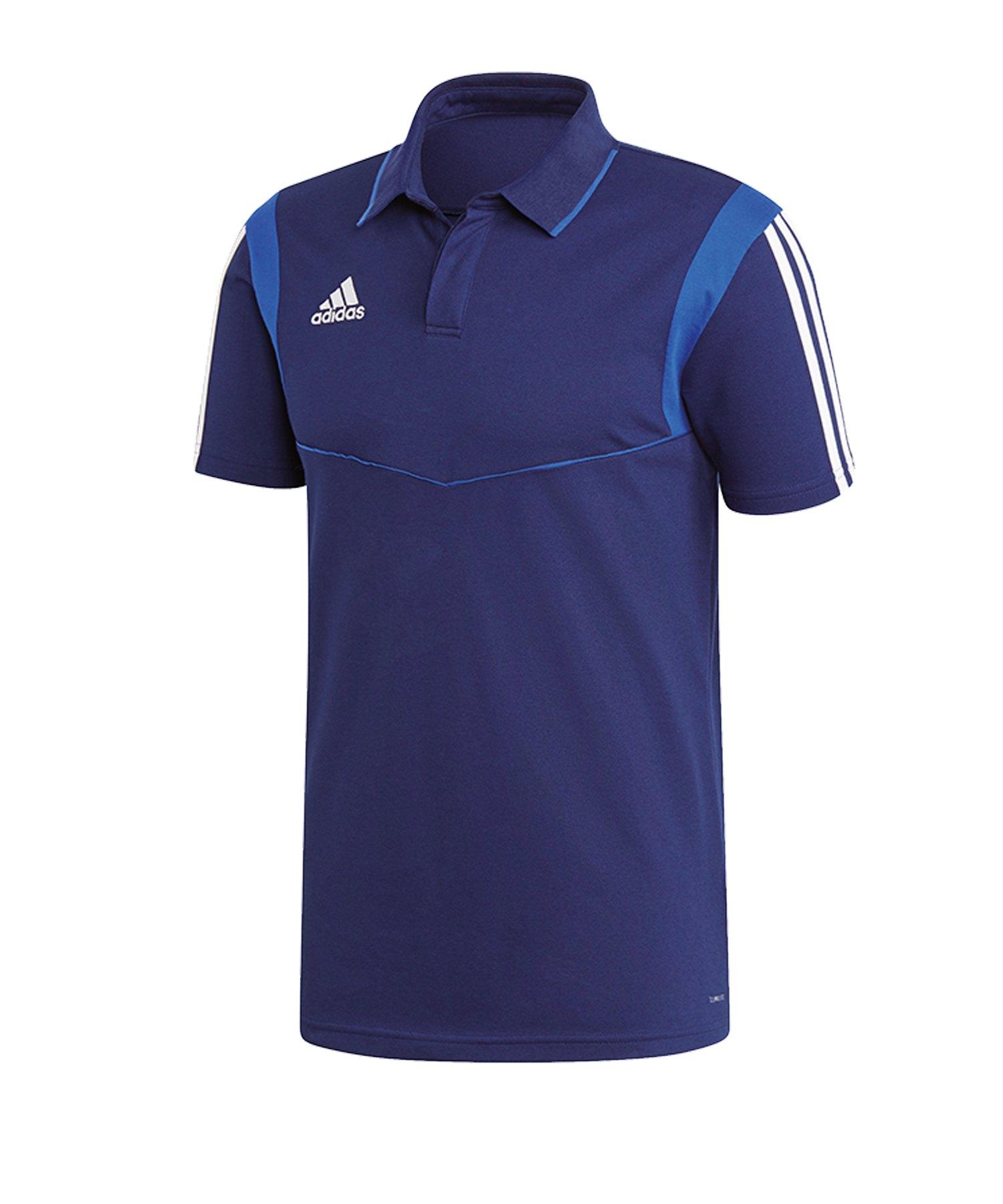 adidas Tiro 19 Poloshirt Dunkelblau - blau