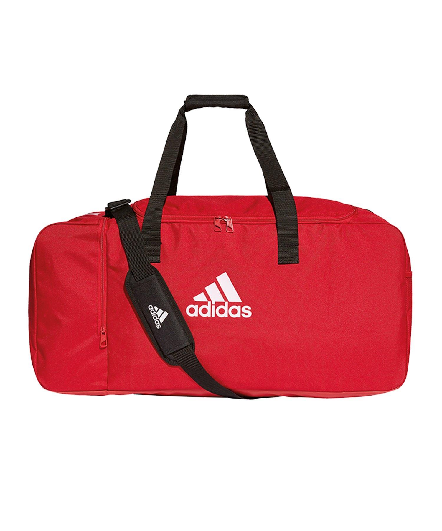 adidas Tiro Duffel Bag Gr. L Rot Weiss - rot