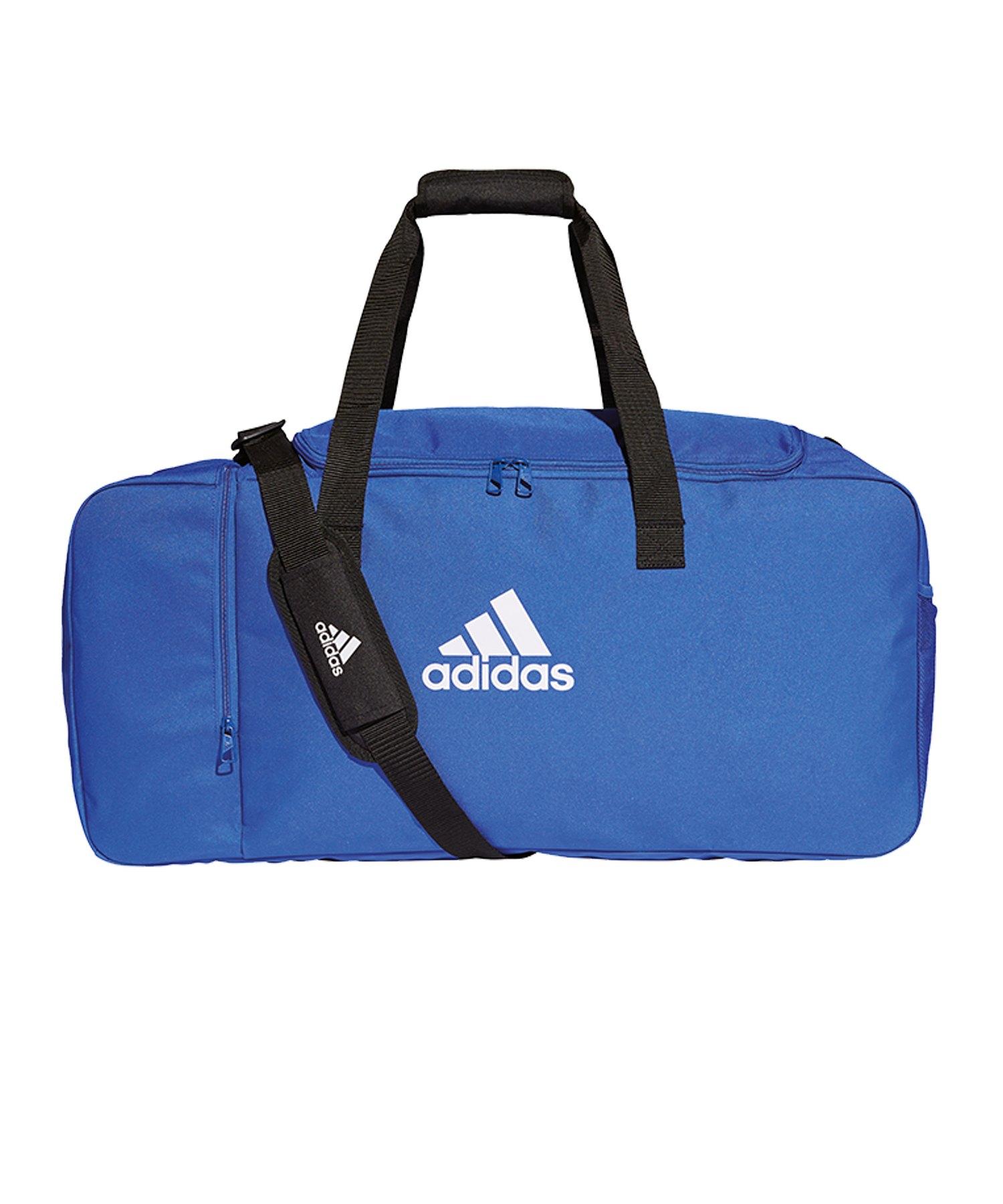 adidas Tiro Duffel Bag Gr. L Blau Weiss - blau