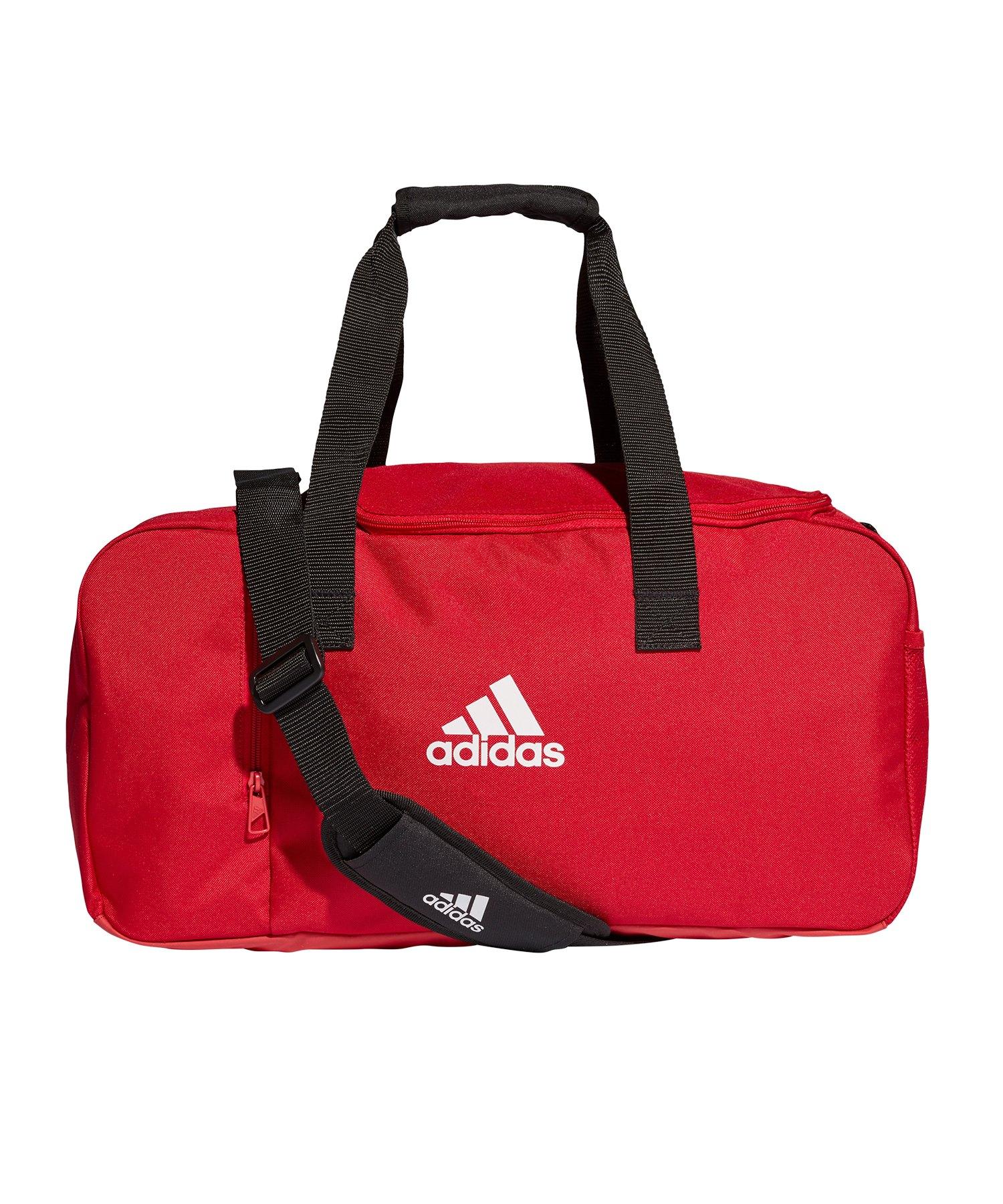 adidas Tiro Duffel Bag Gr. S Rot Weiss - rot