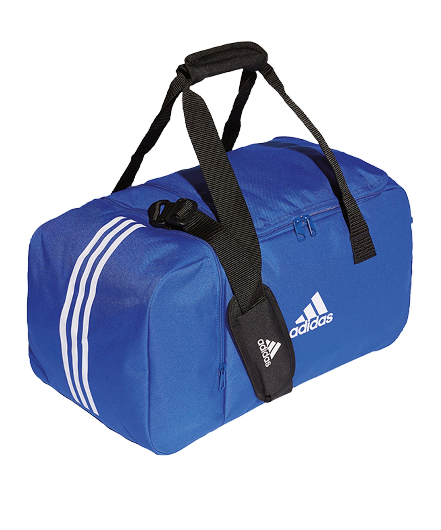 adidas Tiro Duffel Bag Gr. S Blau Weiss - blau