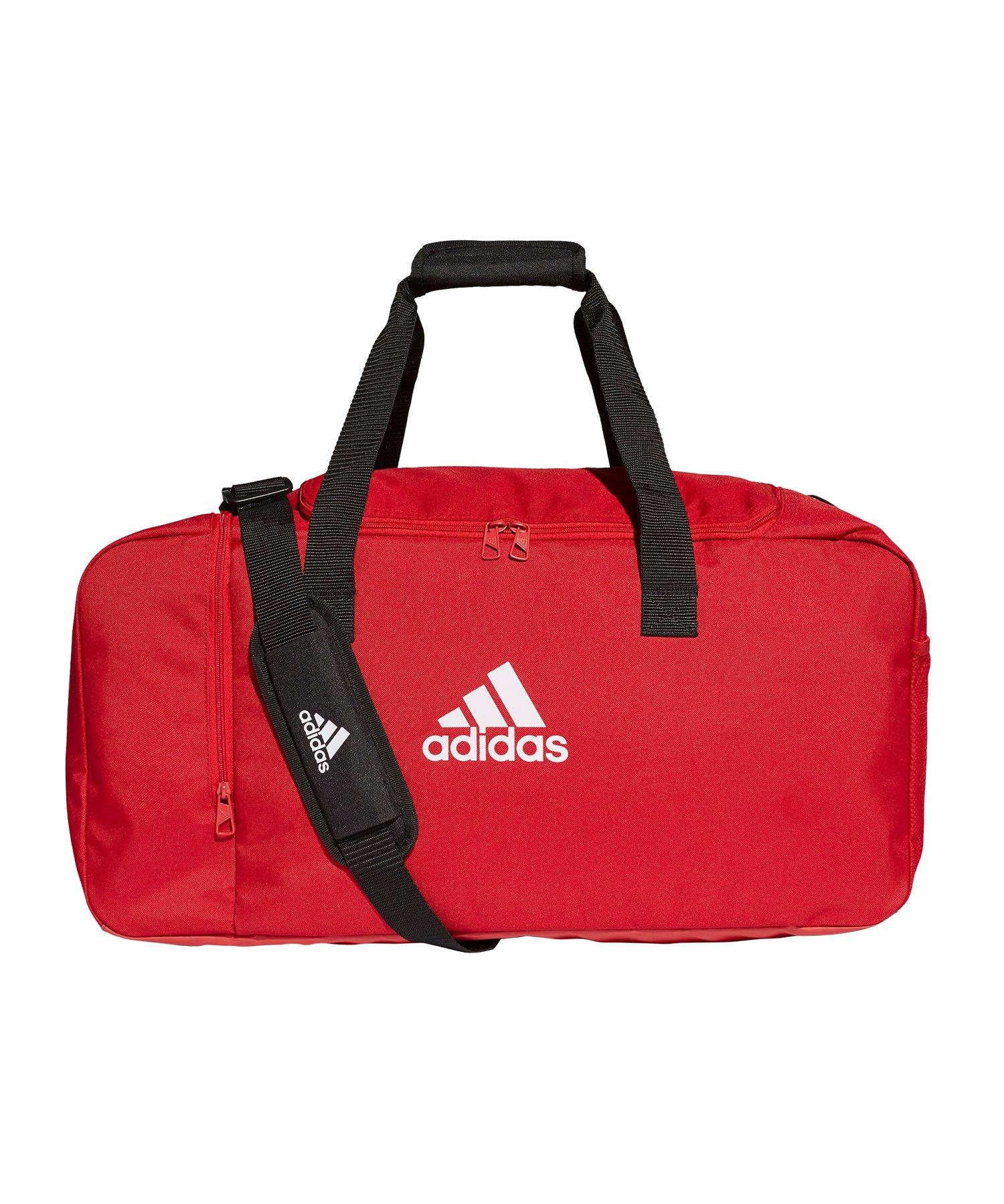adidas Tiro Duffel Bag Gr. M Rot Weiss - rot