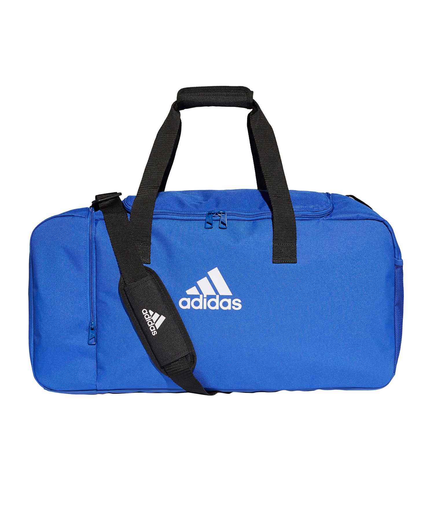 adidas Tiro Duffel Bag Gr. M Blau Weiss - blau