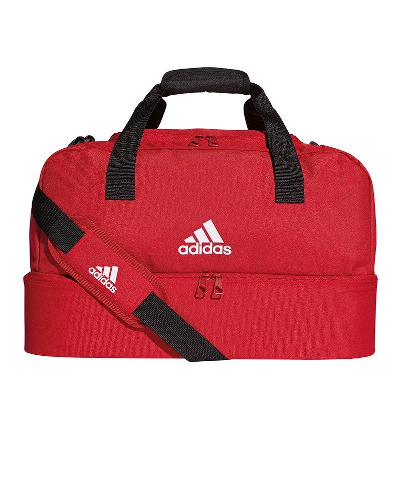 adidas Tiro Duffel Bag Gr. S mit Bodenfach Rot - rot