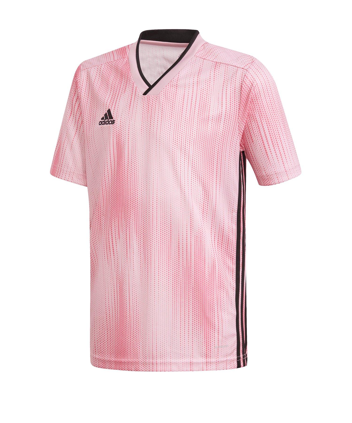 adidas Tiro 19 Trikot kurzarm Kids Pink Schwarz - pink
