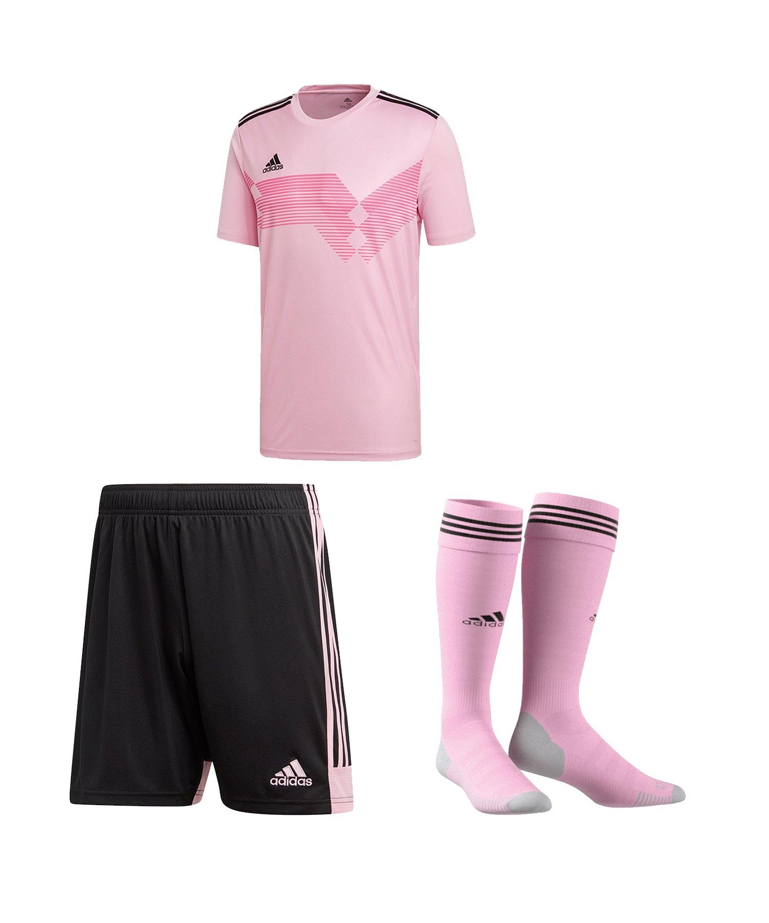 adidas Campeon 19 Trikotset Pink Schwarz - pink