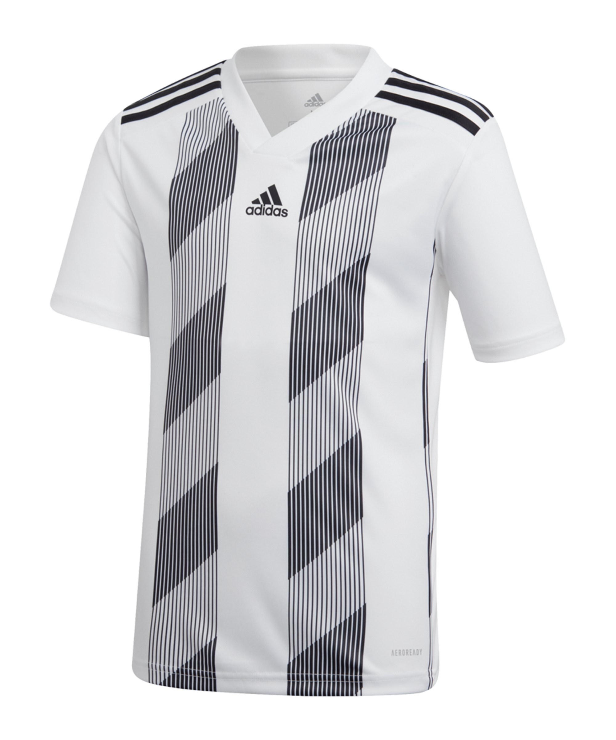 adidas Striped 19 Trikot kurzarm Kids Weiss - weiss
