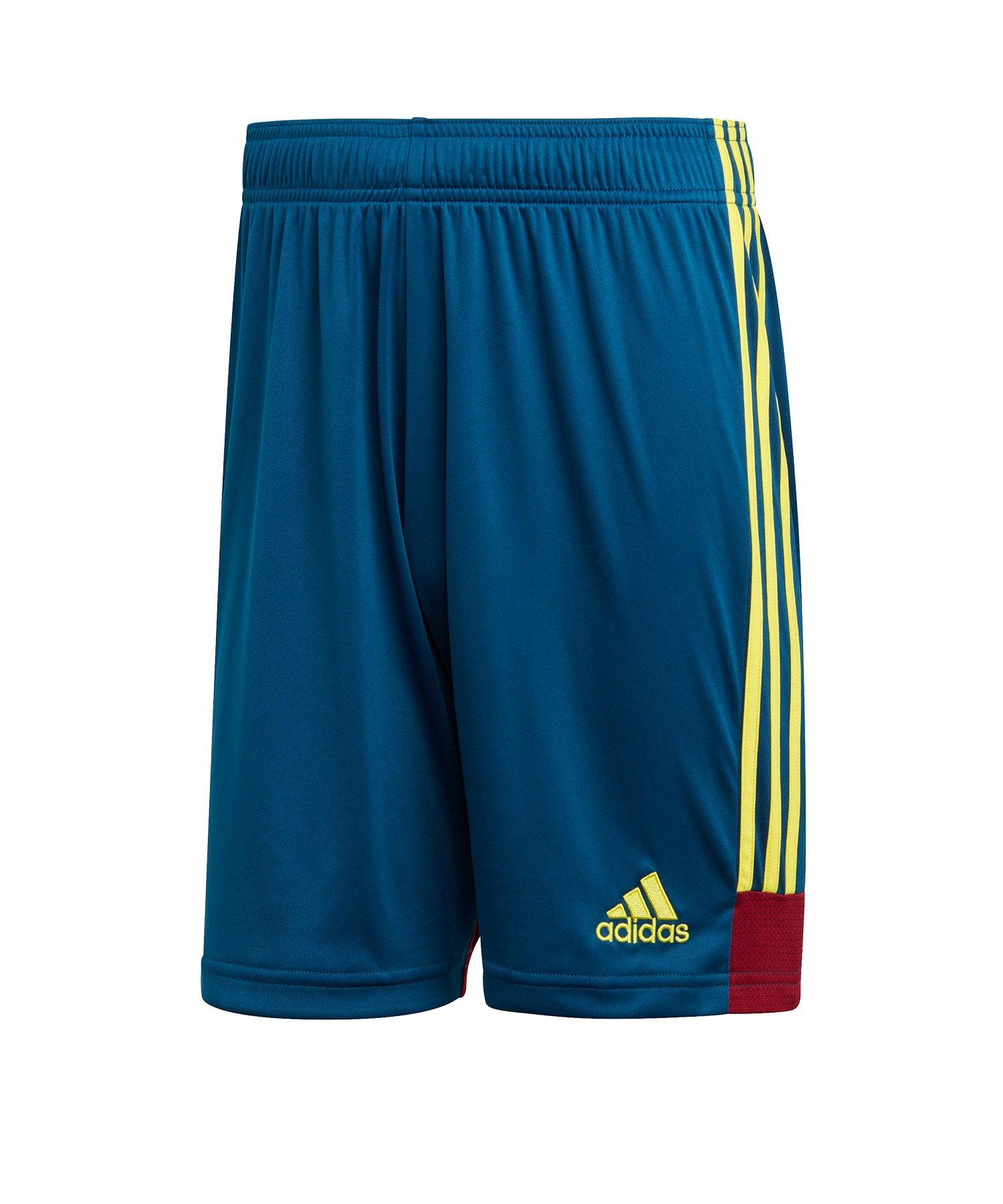 adidas Tastigo 19 Short Blau Gelb - blau