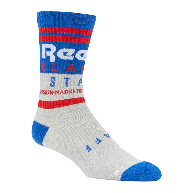 Reebok Classics Graphic Crew Socks Socken Grau - grau
