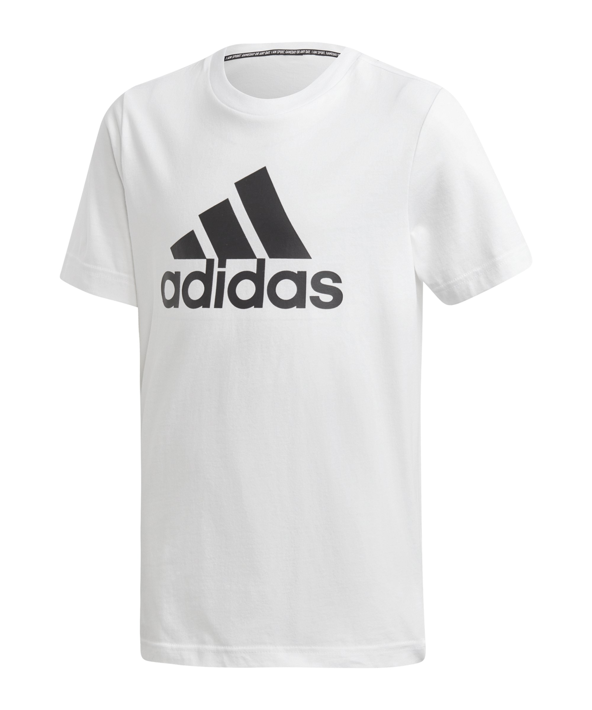 adidas Badge of Sport T-Shirt Kids Schwarz - weiss