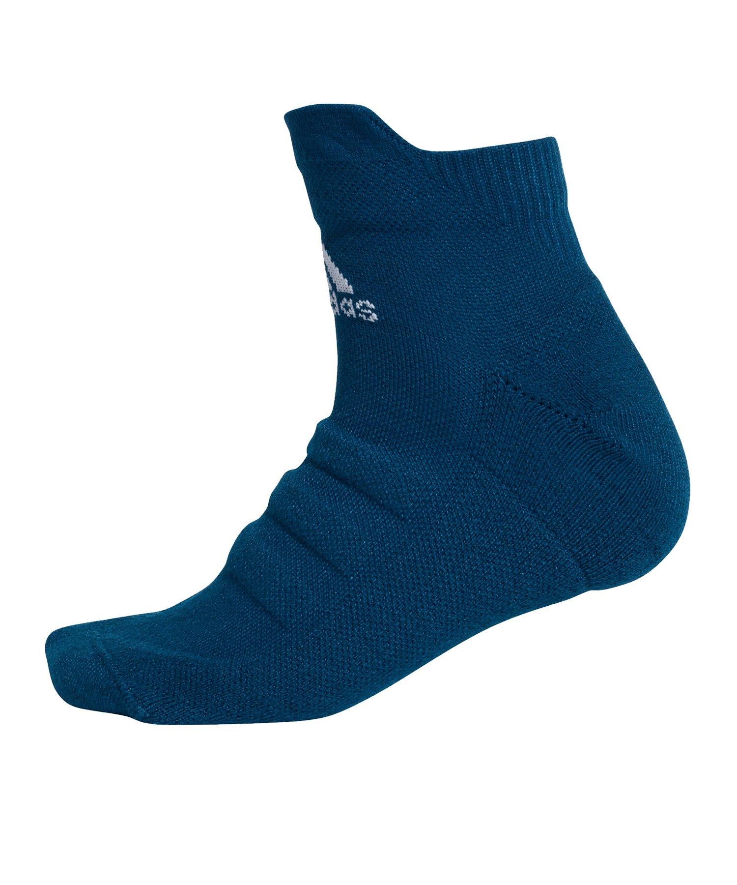 adidas Alphaskin LW Cushioning Ankle Socken Blau - blau