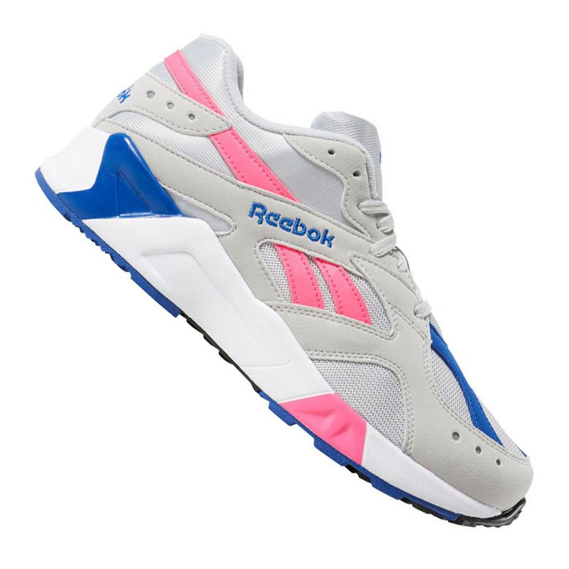 Reebok Aztrek Sneaker Grau Pink Blau - grau
