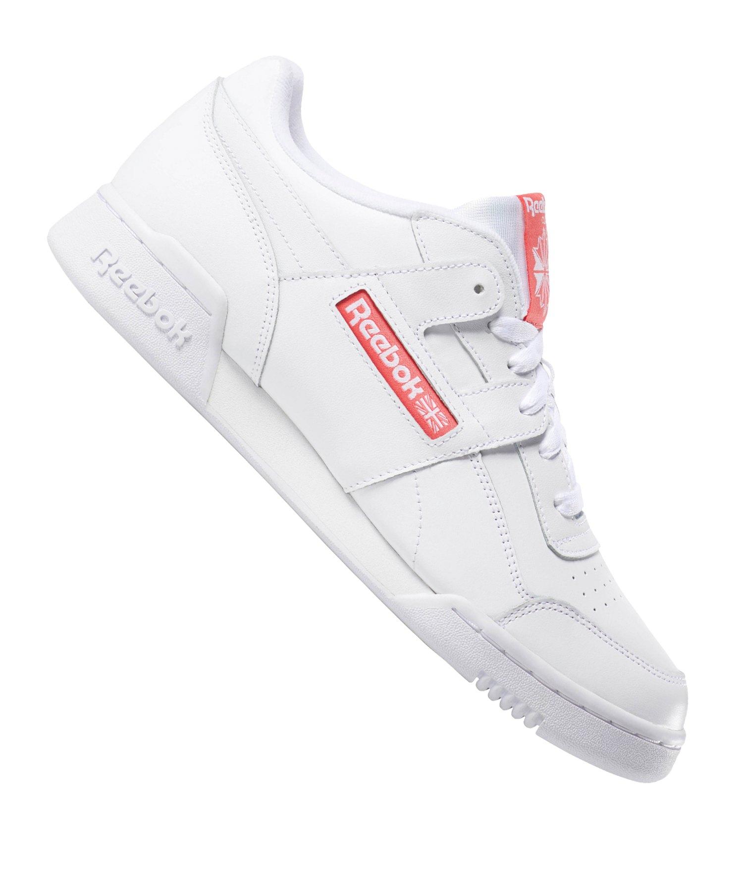Reebok Workout Plus MU Sneaker Weiss Pink - weiss
