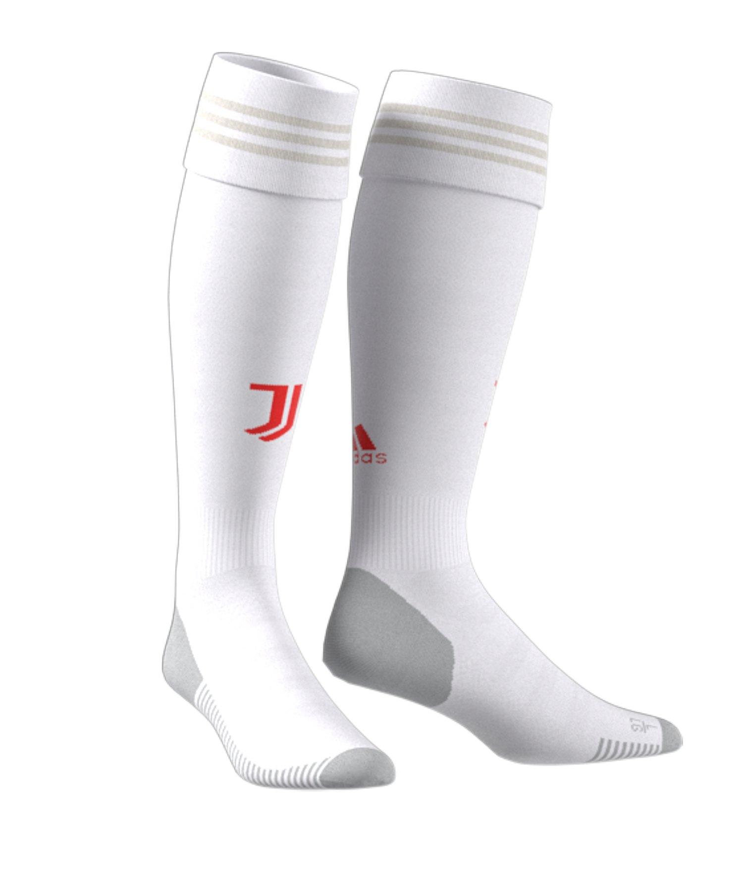 adidas Juventus Turin Stutzen Away 2019/2020 Weiss - Weiss