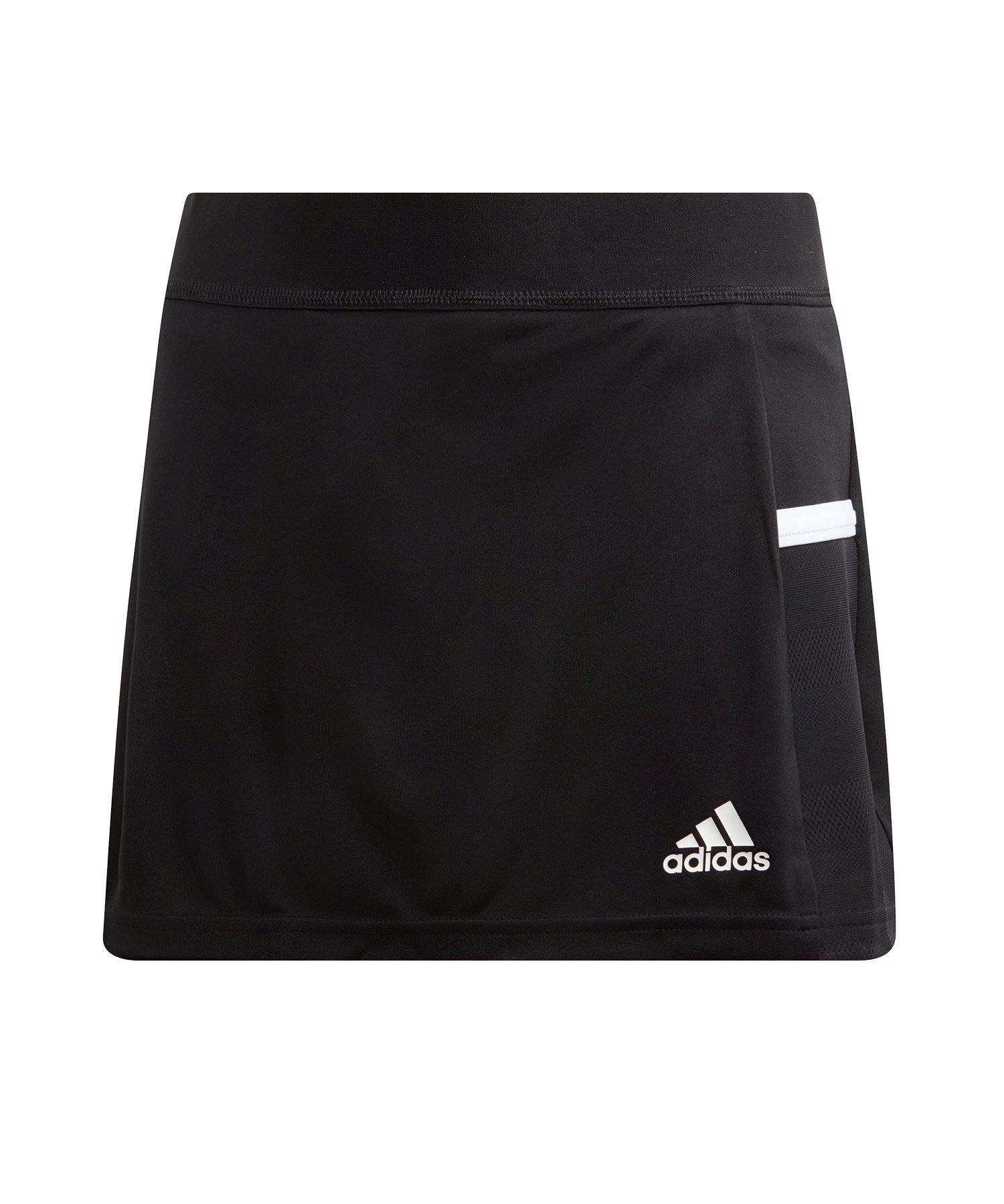 adidas Team 19 Skirt Rock Kids Schwarz Weiss - schwarz