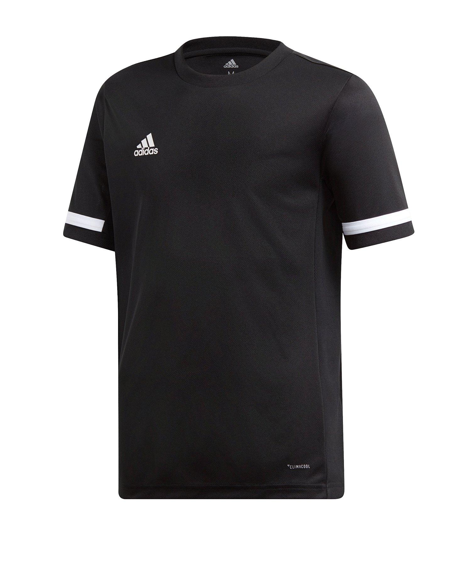 adidas Team 19 Trikot kurzarm Kids Schwarz Weiss - schwarz