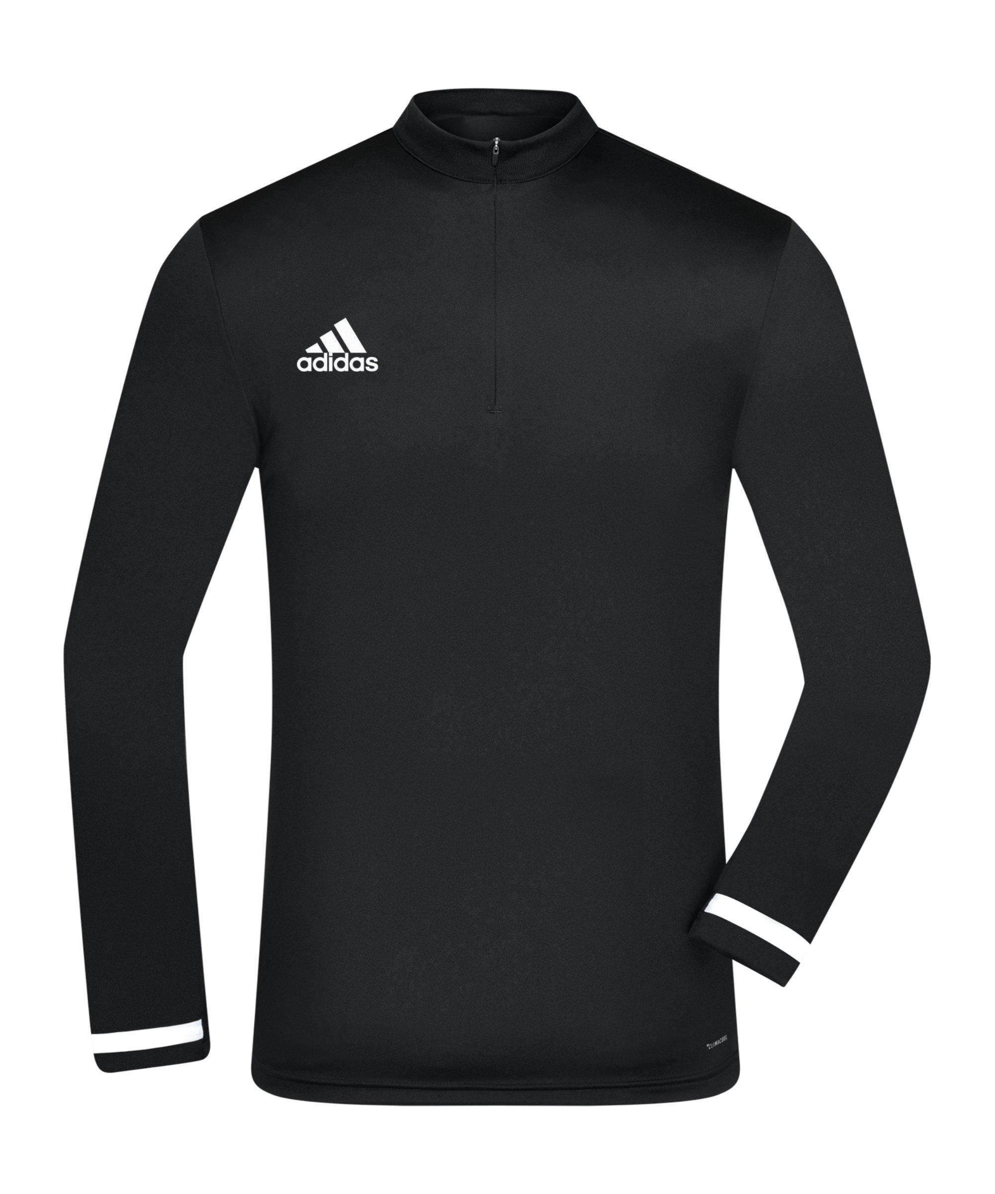 adidas Team 19 1/4 Zip Training Top Schwarz Weiss - schwarz