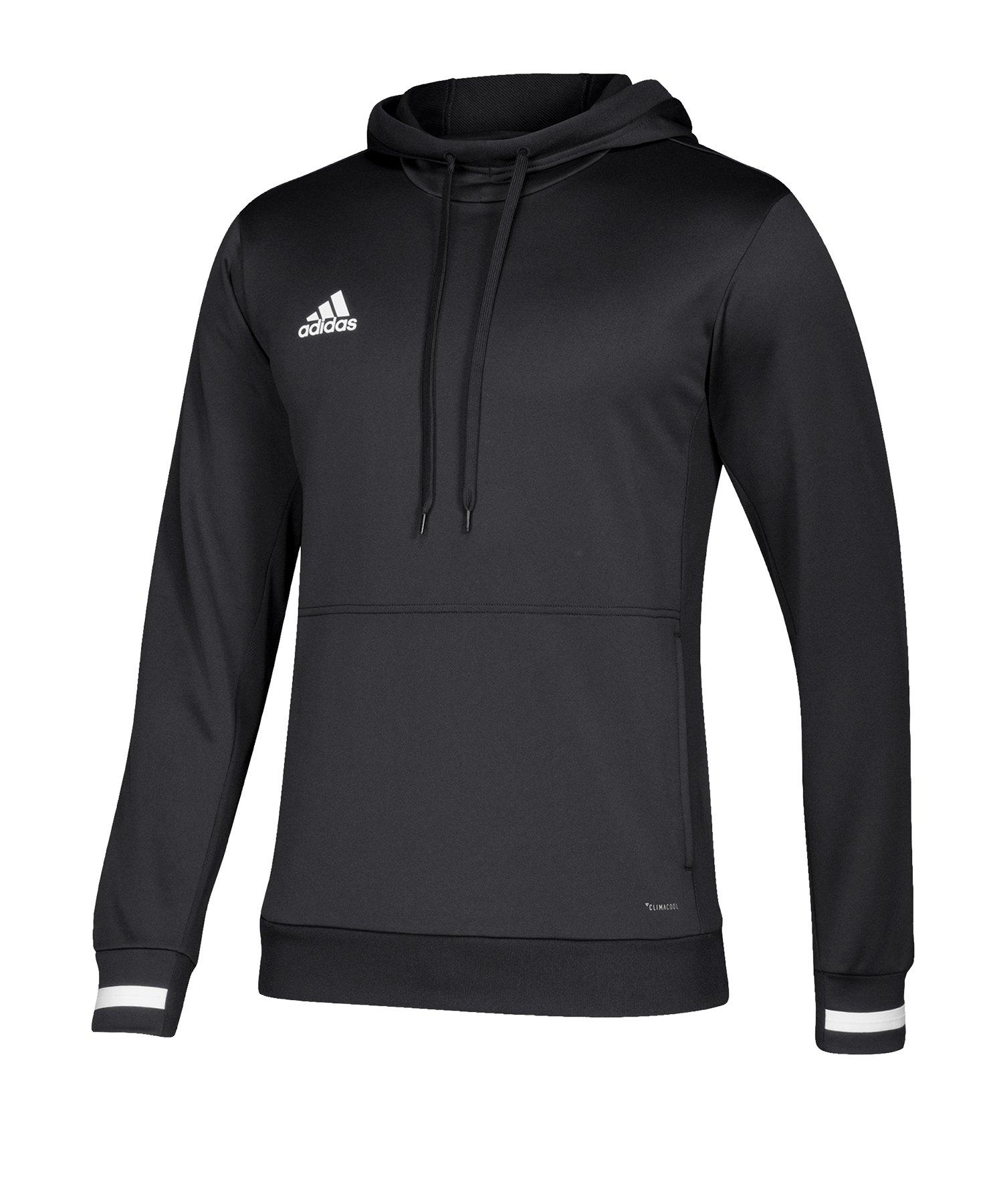 adidas Team 19 Kapuzensweatshirt Schwarz Weiss - schwarz