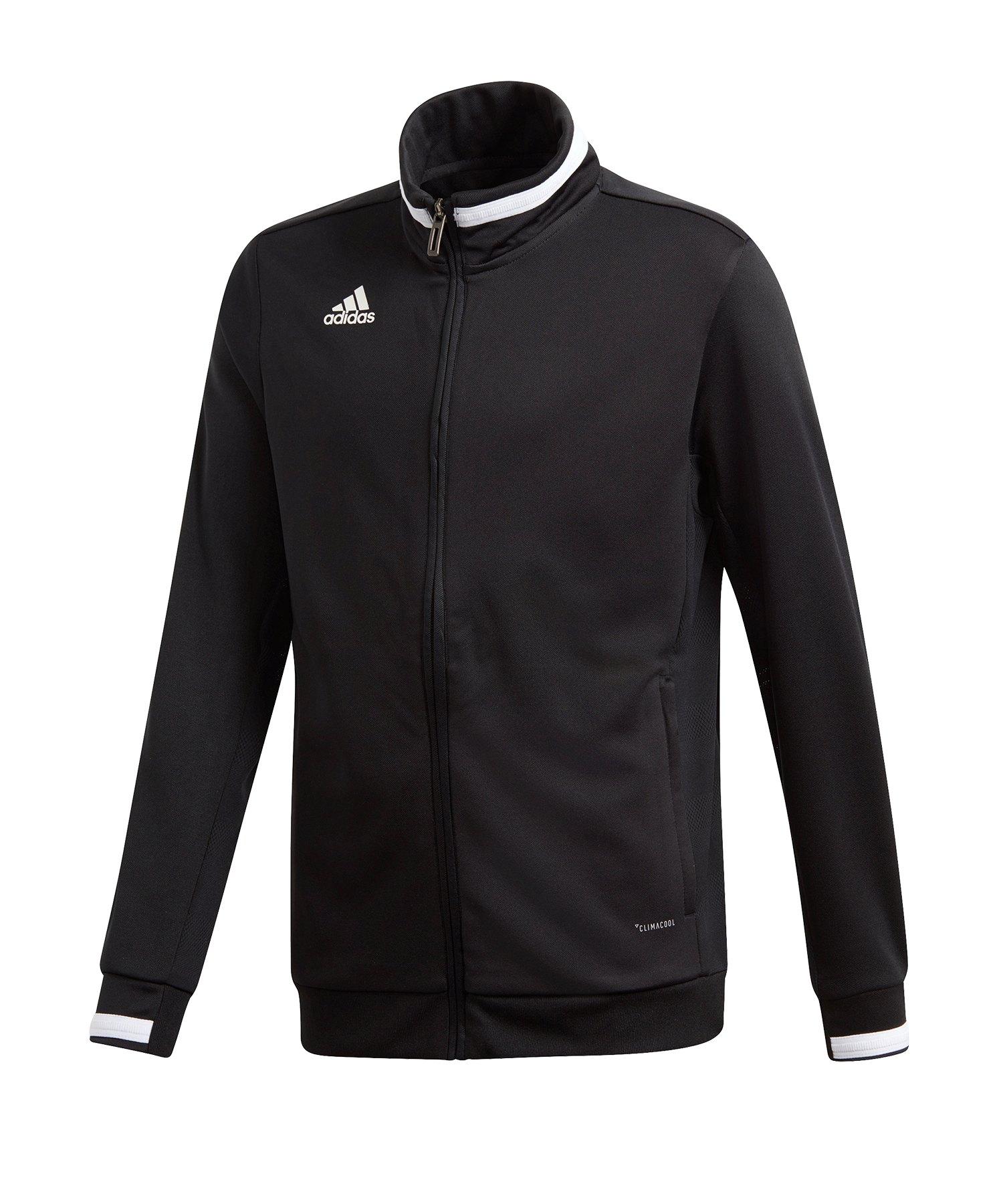 adidas Team 19 Track Jacket Kids Schwarz Weiss - schwarz