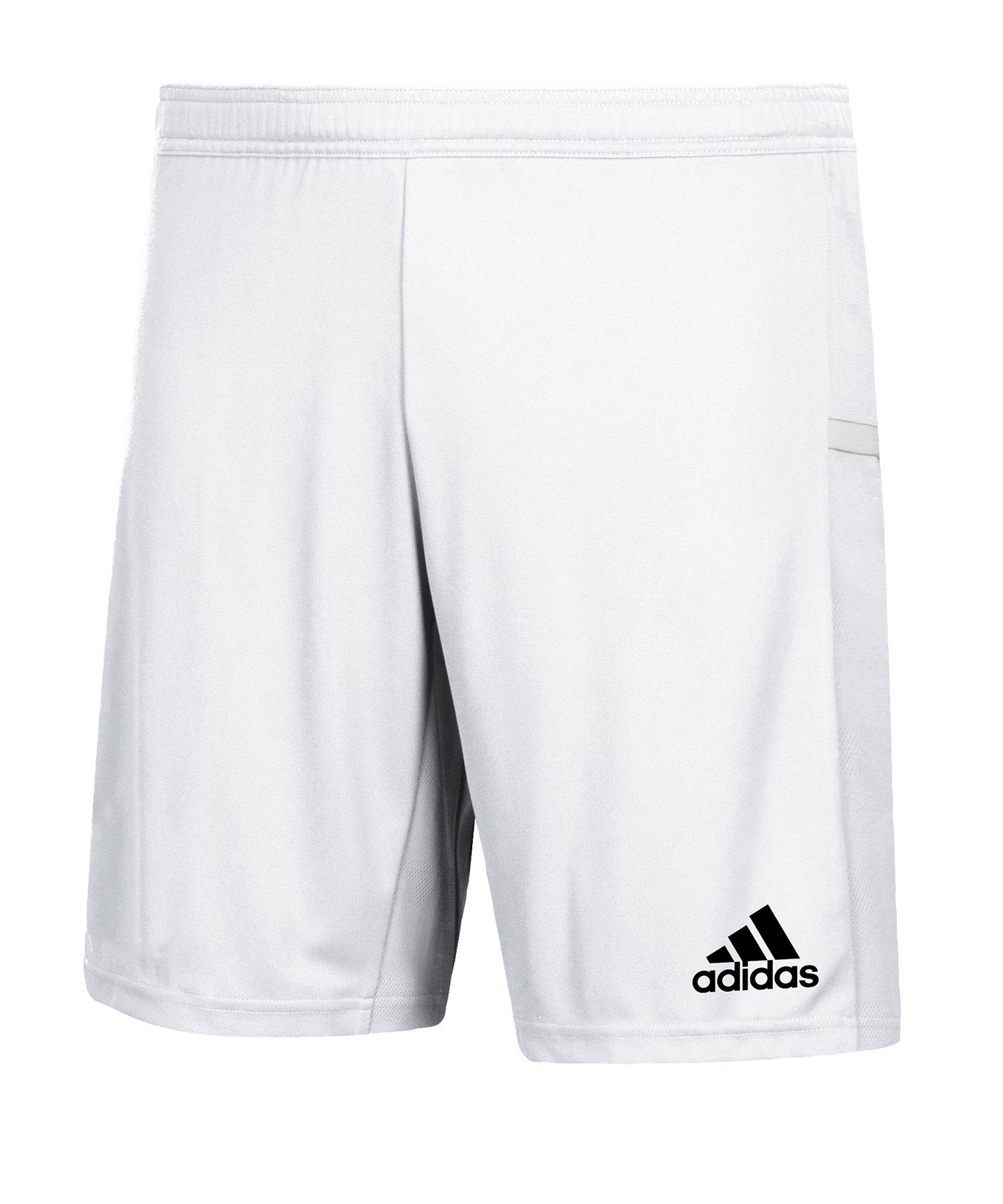 adidas Team 19 Knitted Short Weiss - weiss