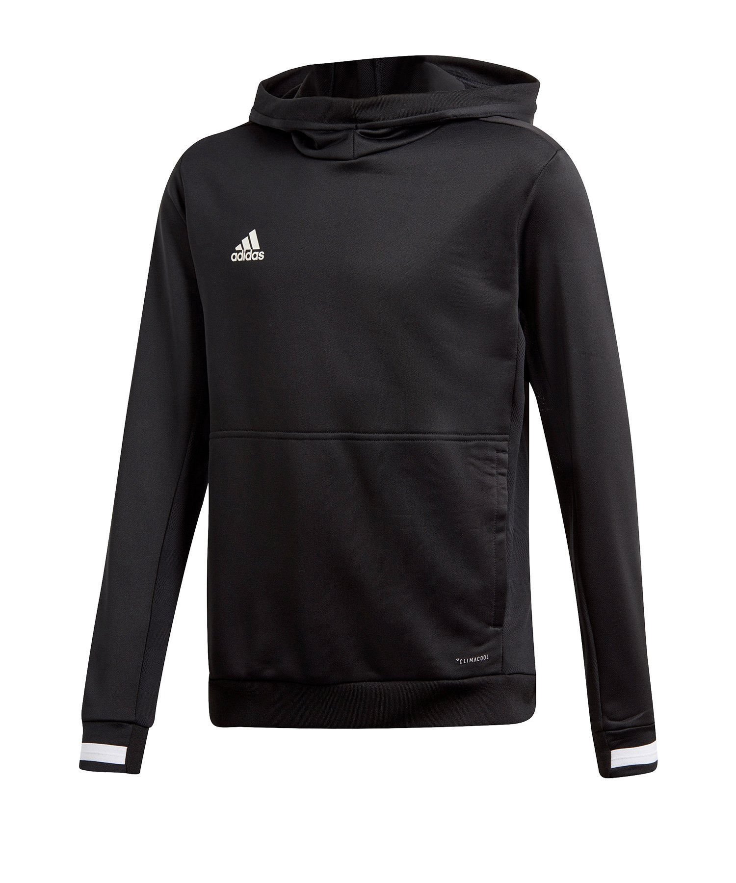 adidas Team 19 Kapuzensweatshirt Kids Schwarz - schwarz