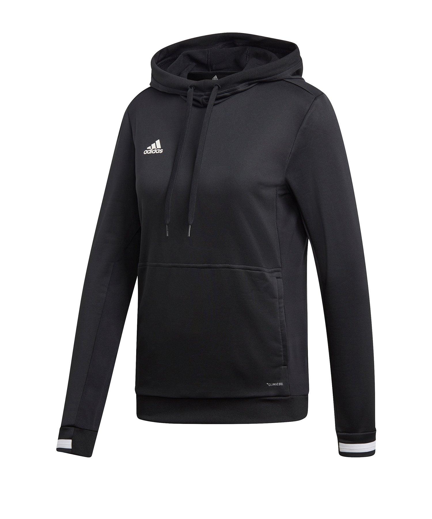 adidas Team 19 Kapuzensweatshirt Damen Schwarz - schwarz