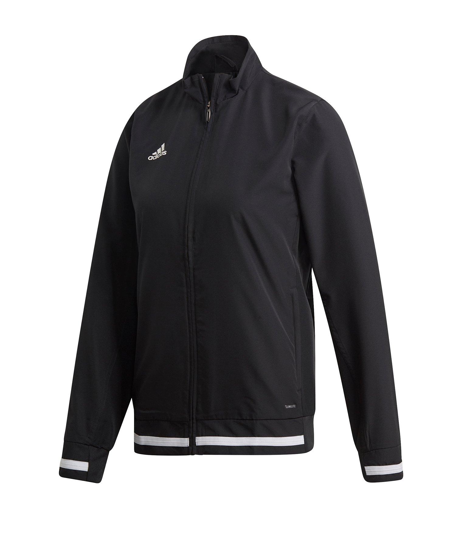 adidas Team 19 Woven Jacket Damen Schwarz Weiss - schwarz