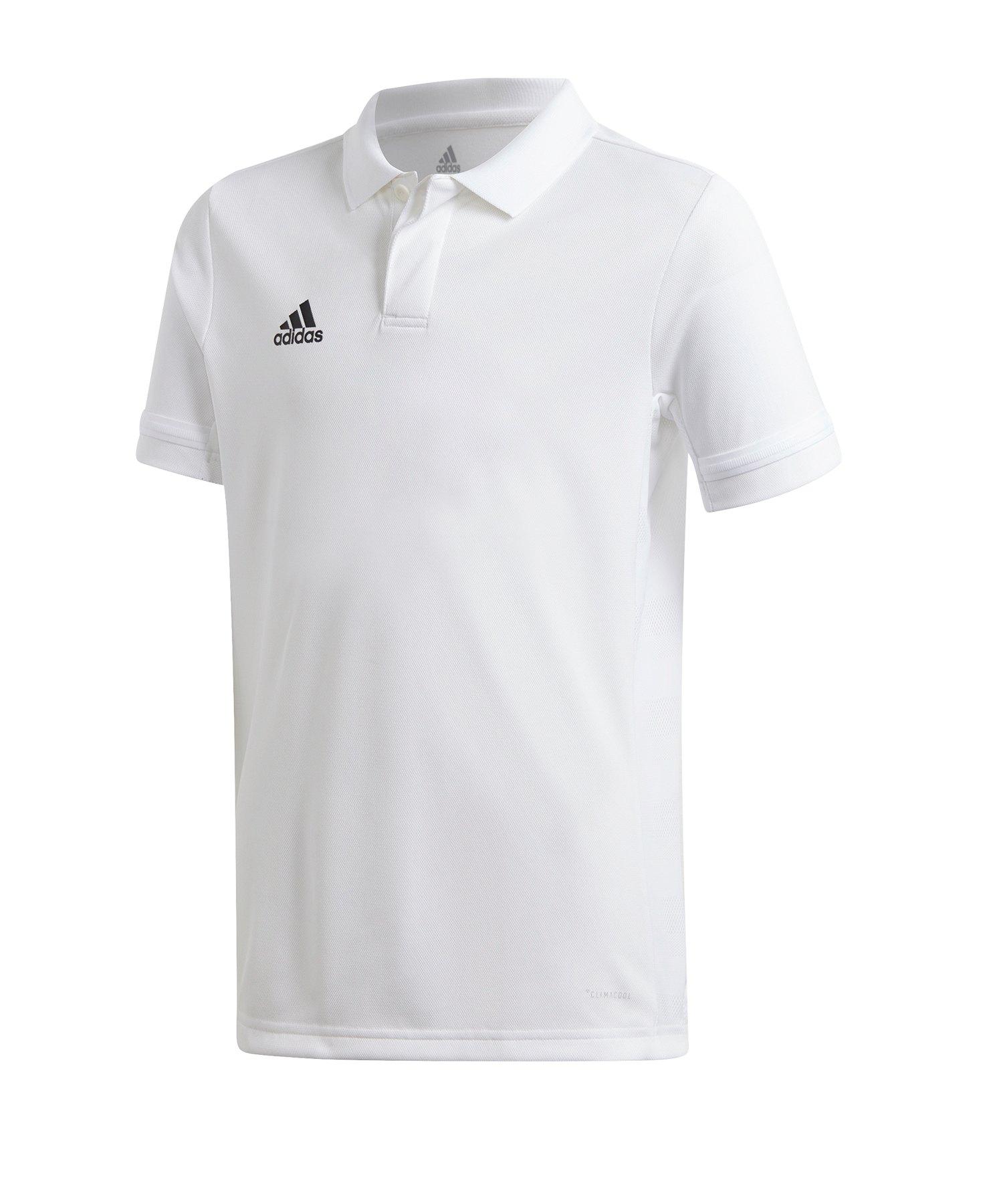 adidas Team 19 Poloshirt Kids Weiss - weiss