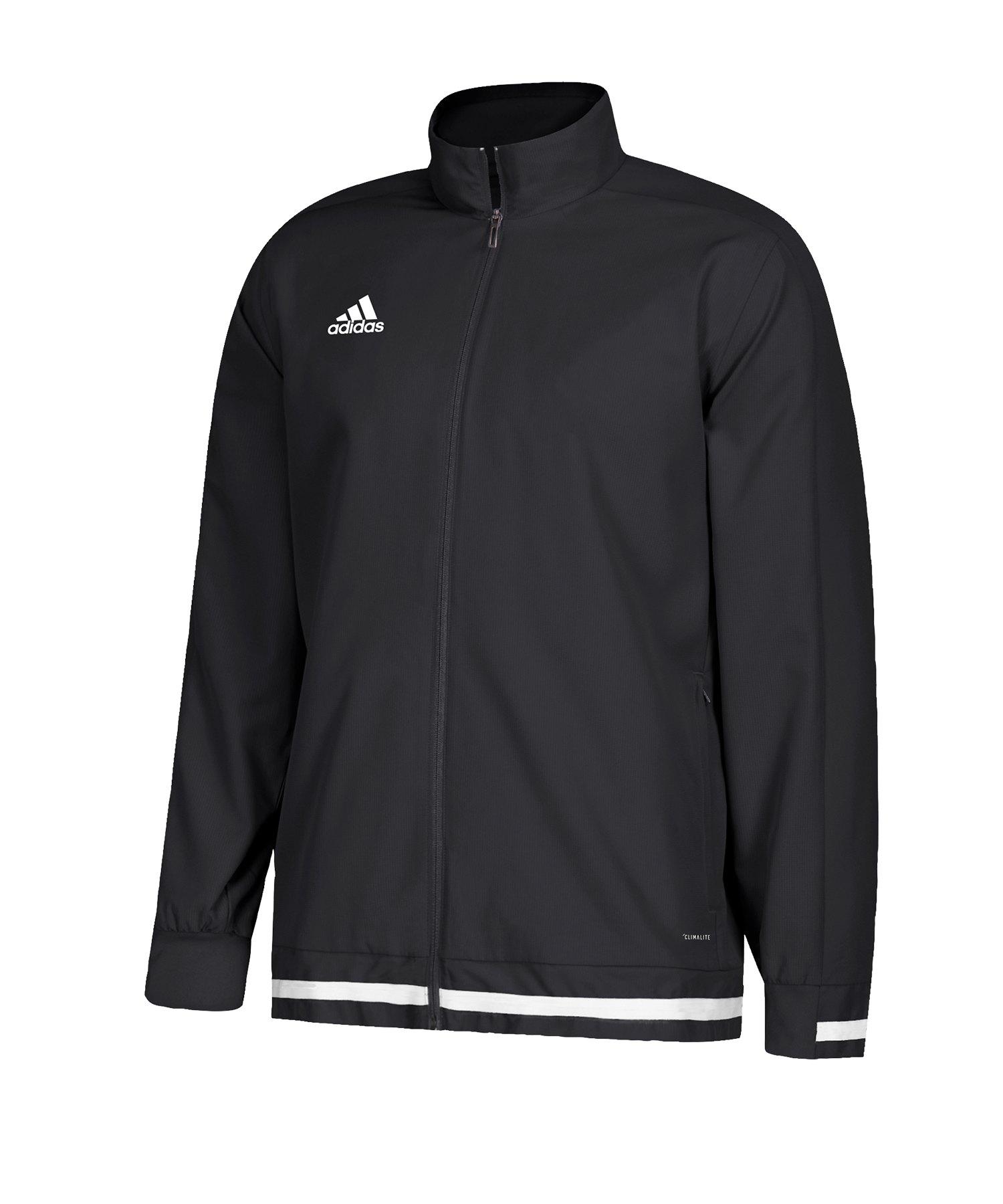 adidas Team 19 Woven Jacket Schwarz Weiss - schwarz