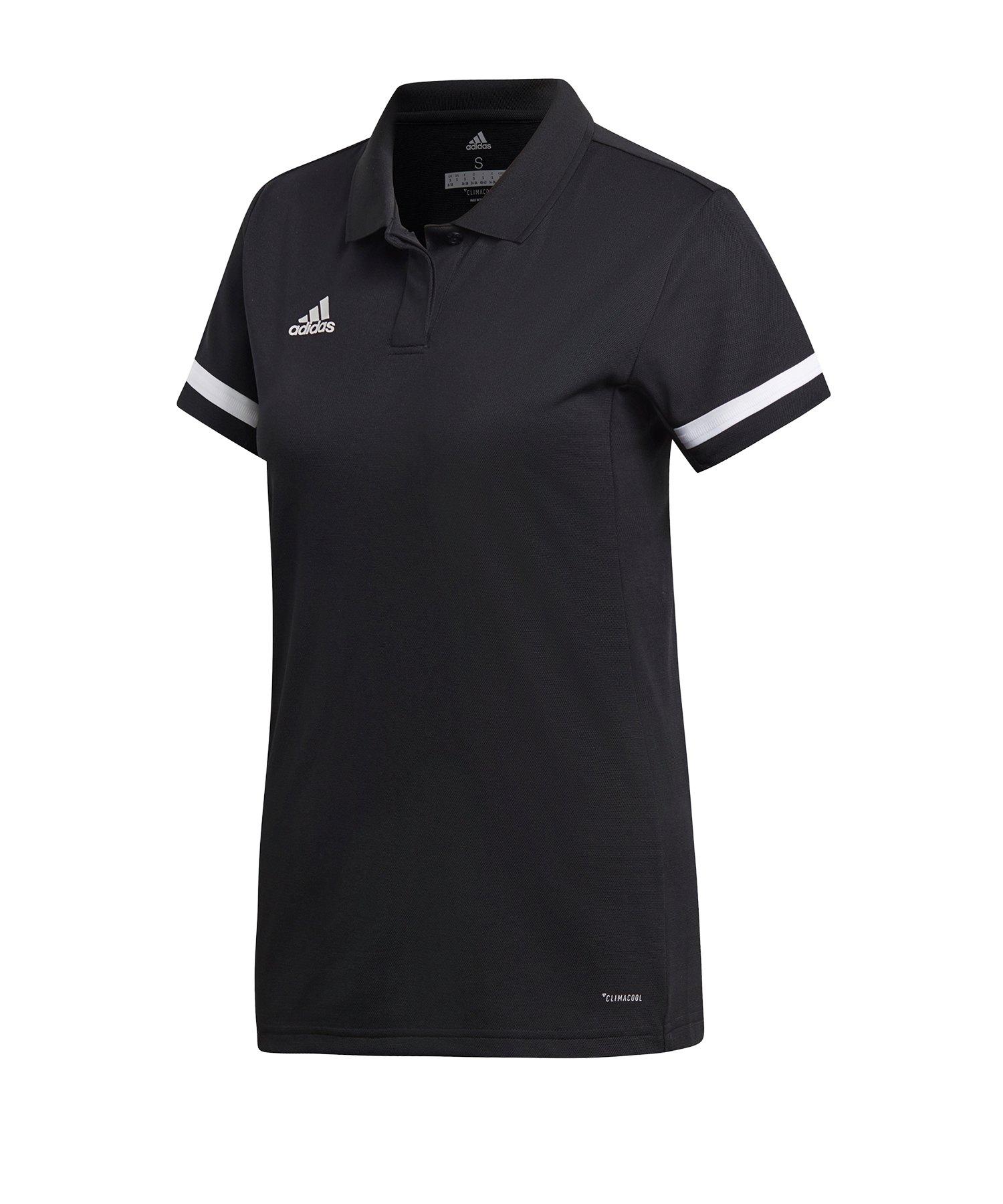 adidas Team 19 Poloshirt Damen Schwarz Weiss - schwarz