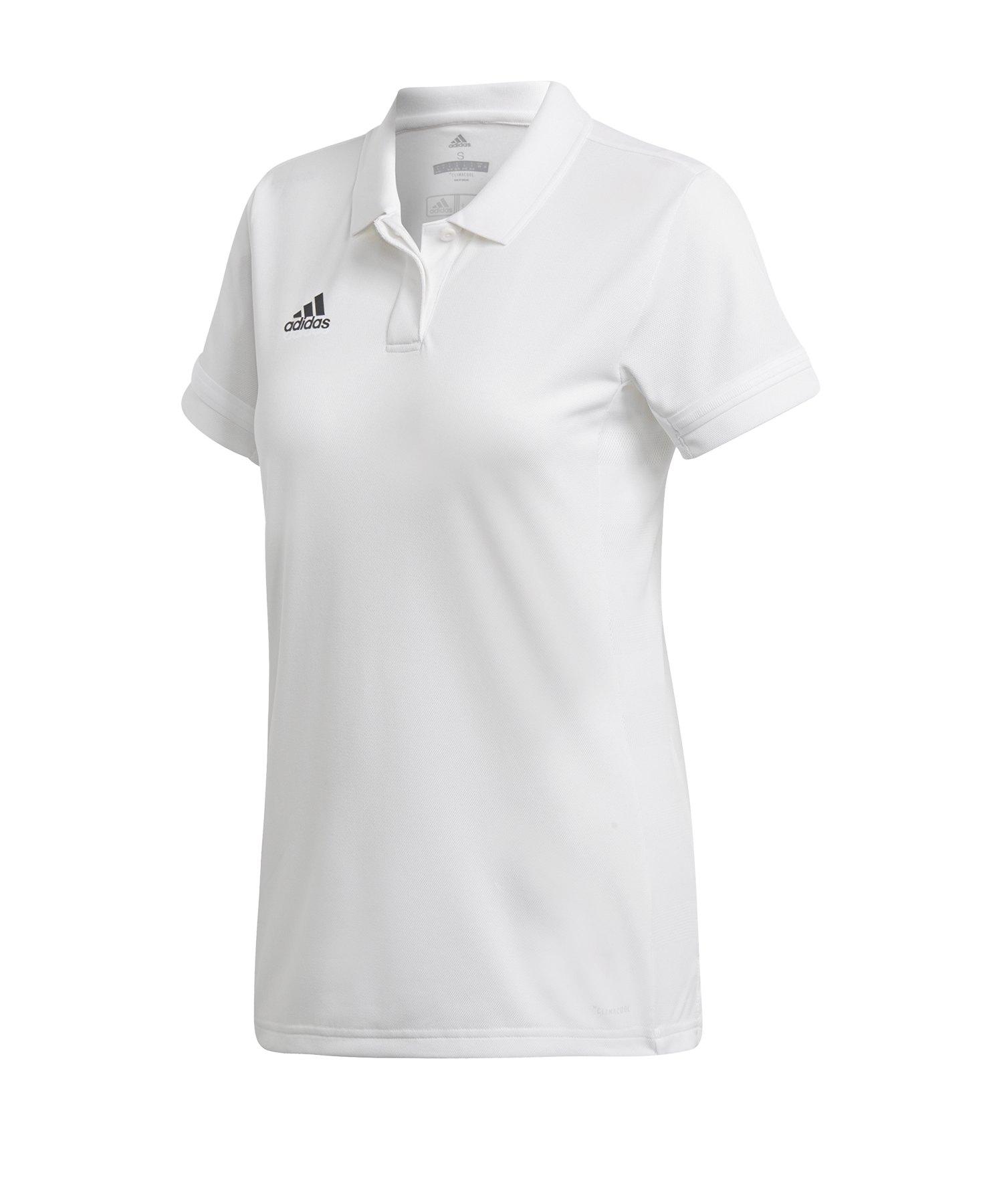 adidas Team 19 Poloshirt Damen Weiss - weiss