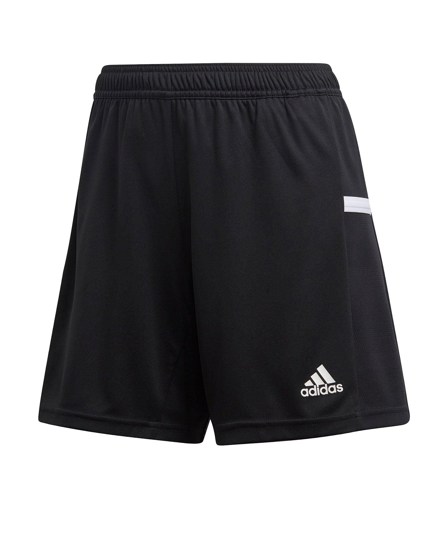 adidas Team 19 Knitted Short Damen Schwarz Weiss - schwarz