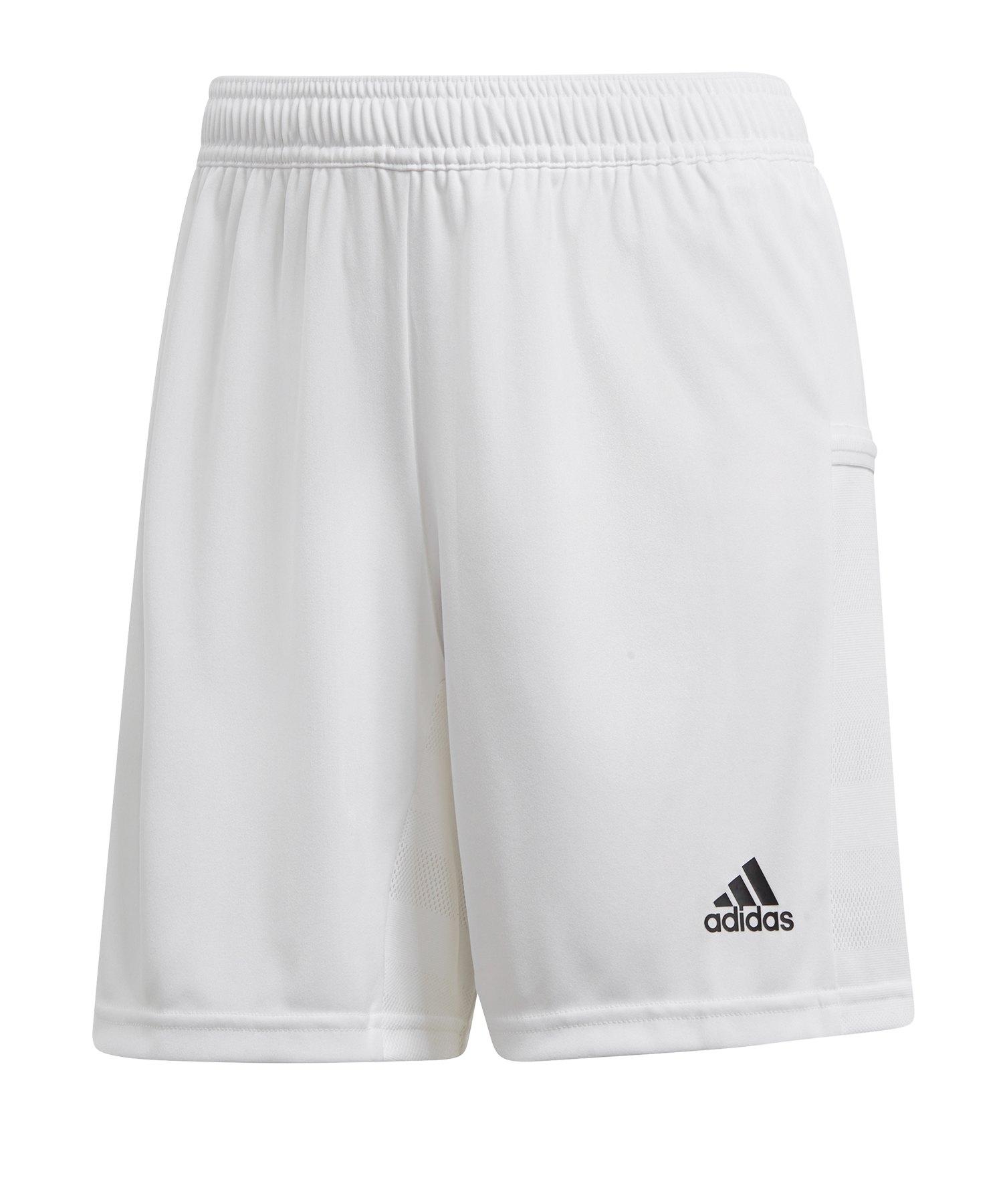 adidas Team 19 Knitted Short Damen Weiss - weiss