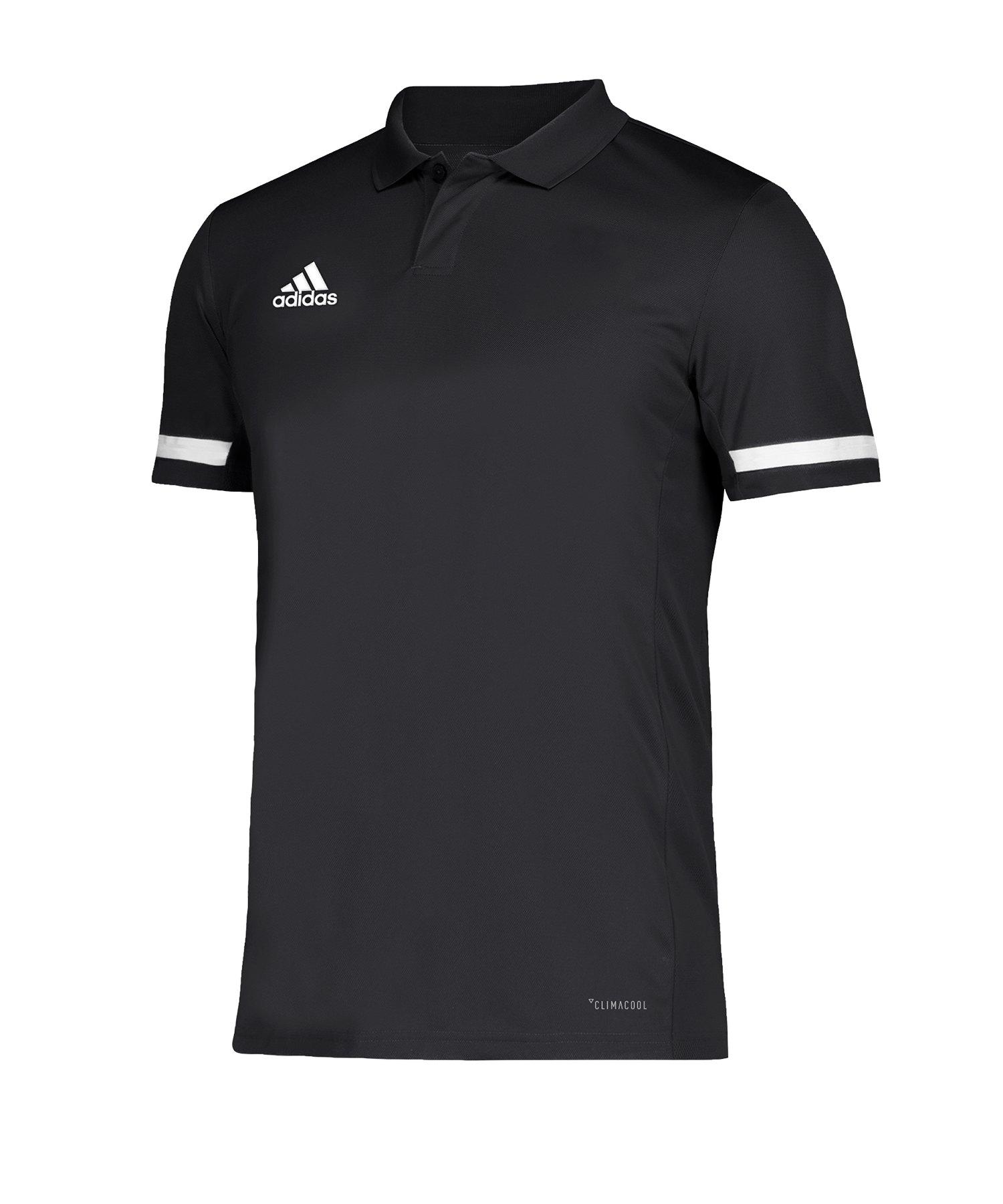 adidas Team 19 Poloshirt Schwarz Weiss - schwarz