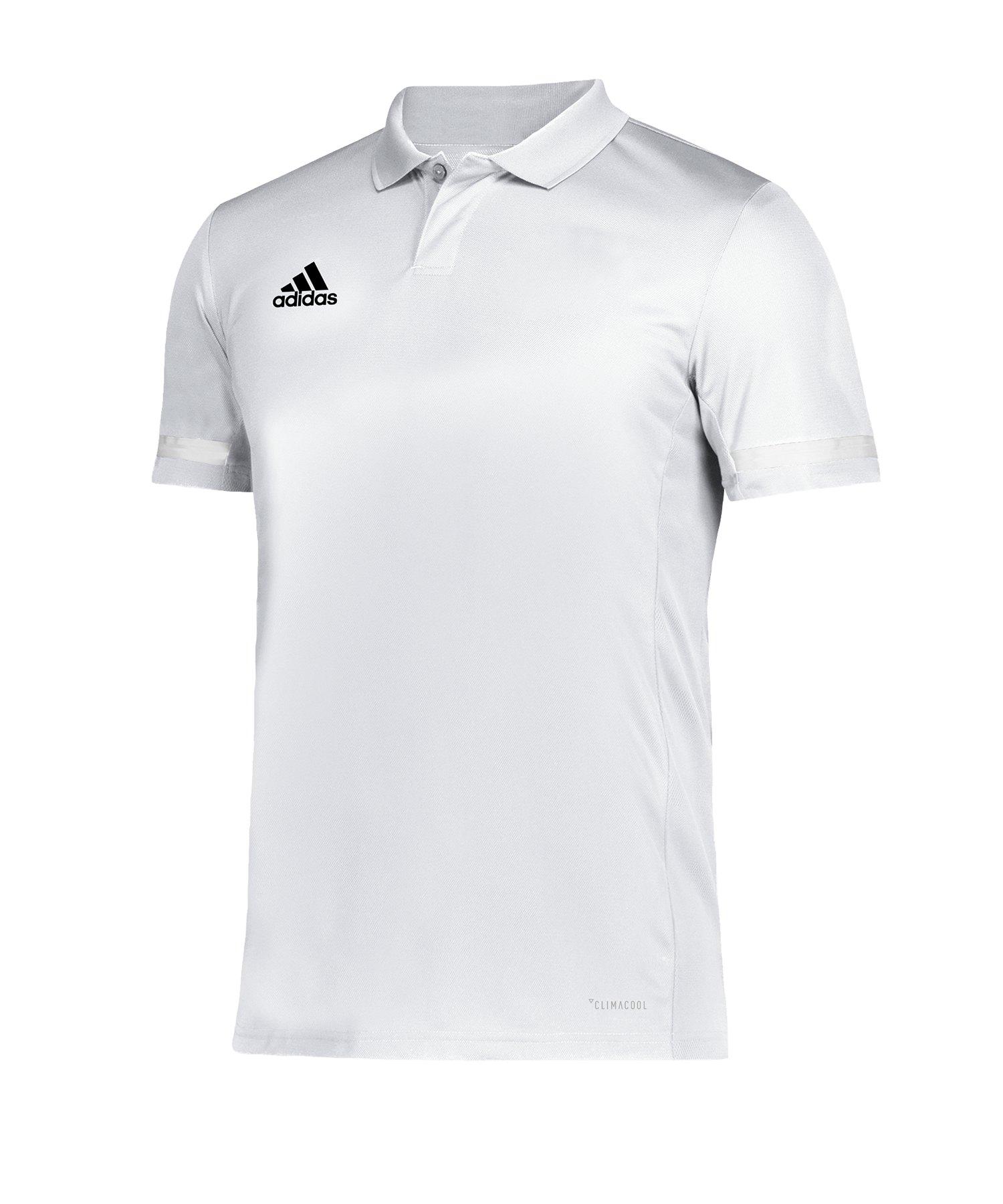adidas Team 19 Poloshirt Weiss - weiss