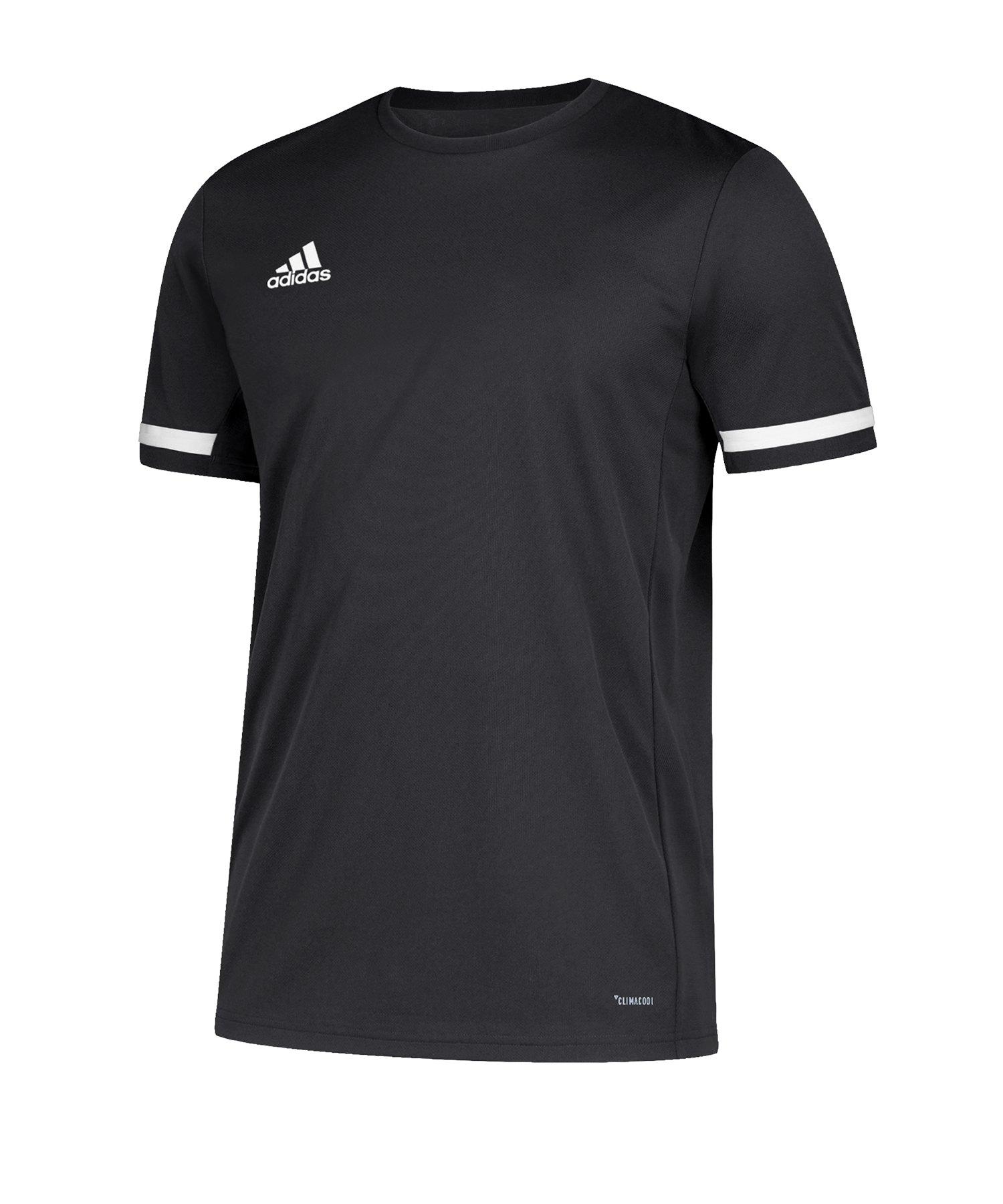 adidas Team 19 Trikot kurzarm Schwarz Weiss - schwarz