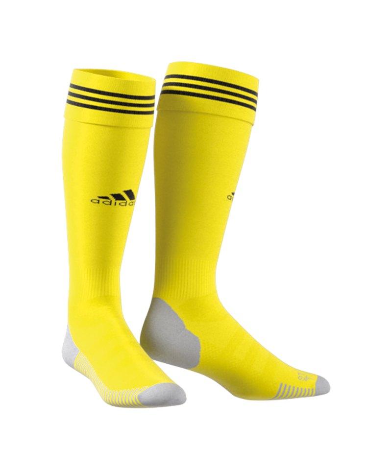 adidas Adisock 18 Stutzenstrumpf Gelb Schwarz - gelb