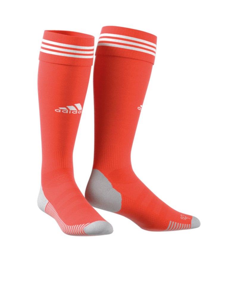 adidas Adisock 18 Stutzenstrumpf Orange Weiss - orange