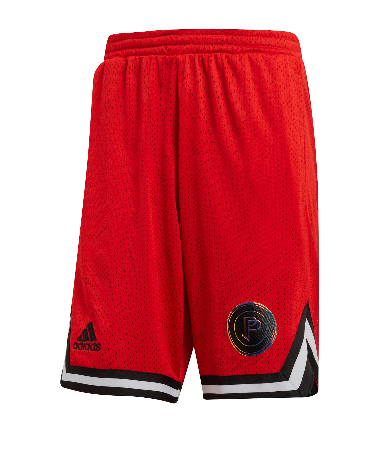adidas Paul Pogba Reversible Short Schwarz - rot
