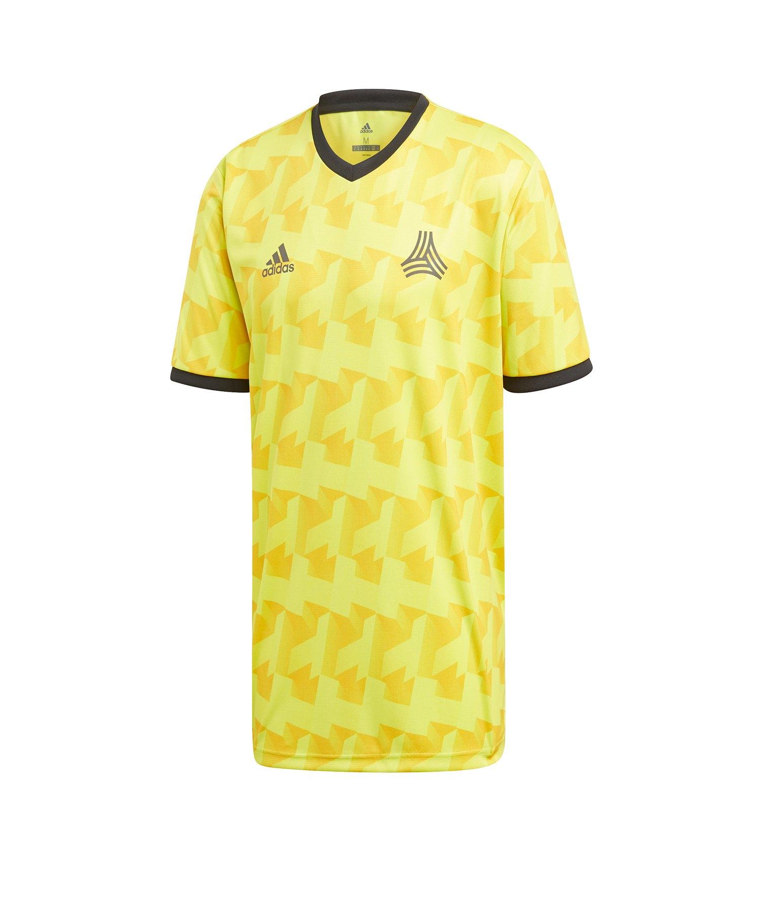 adidas Tango AOP Jersey T-Shirt Gelb - gelb