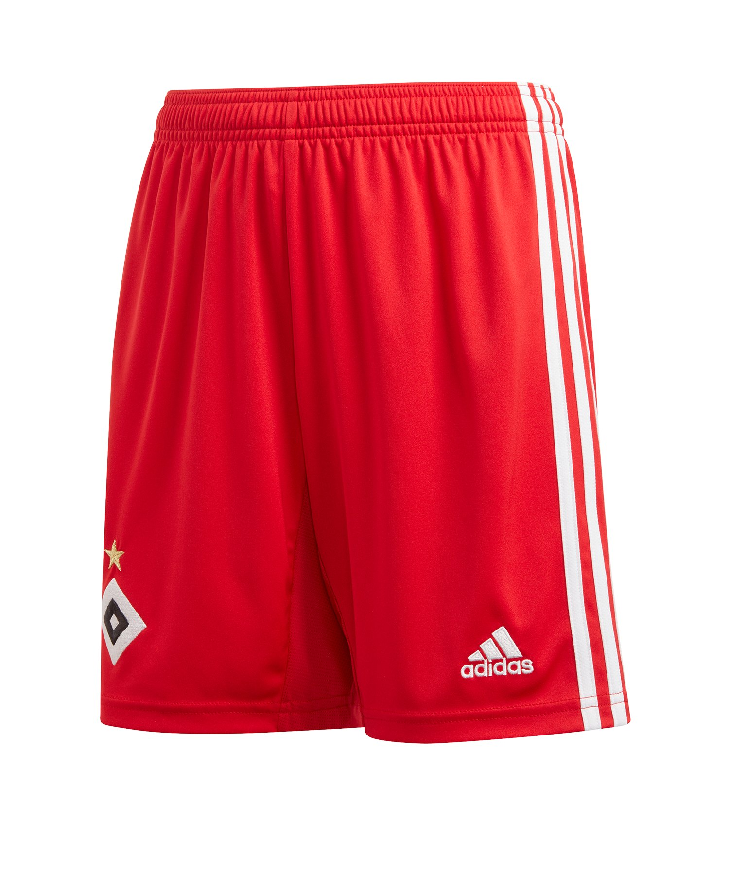adidas Hamburger SV Short Home 2019/2020 Rot Weiss - Rot