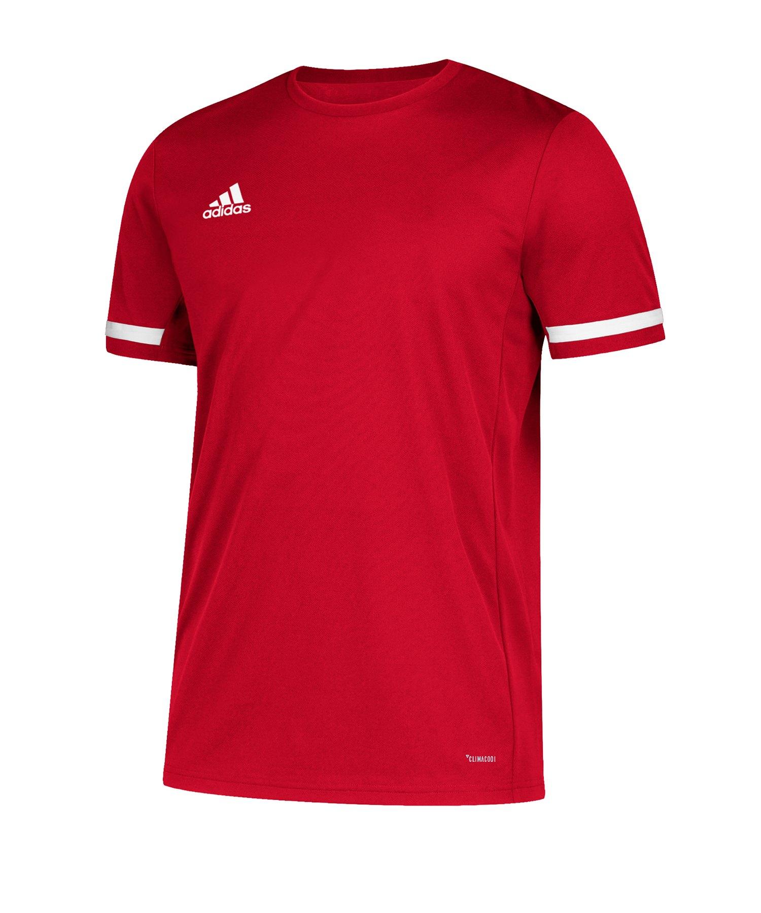 adidas Team 19 Trikot kurzarm Rot Weiss - rot
