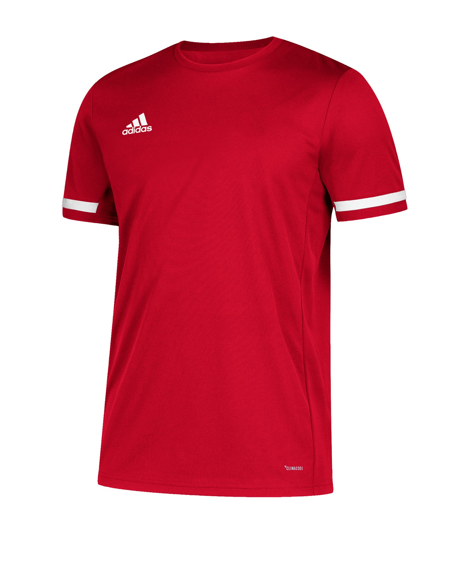 adidas Team 19 Trikot kurzarm Damen Rot Weiss - rot