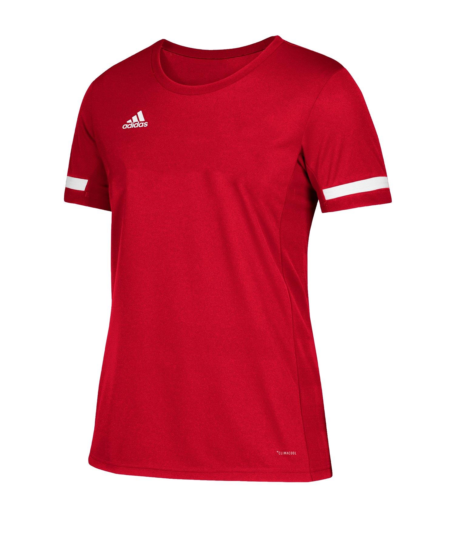 adidas Team 19 Trikot kurzarm Kids Rot Weiss - rot
