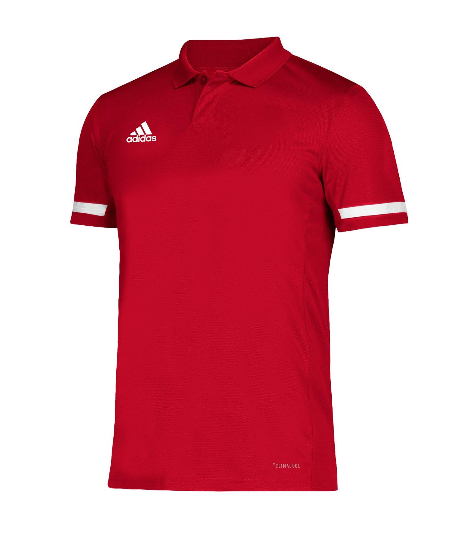 adidas Team 19 Poloshirt Rot Weiss - rot