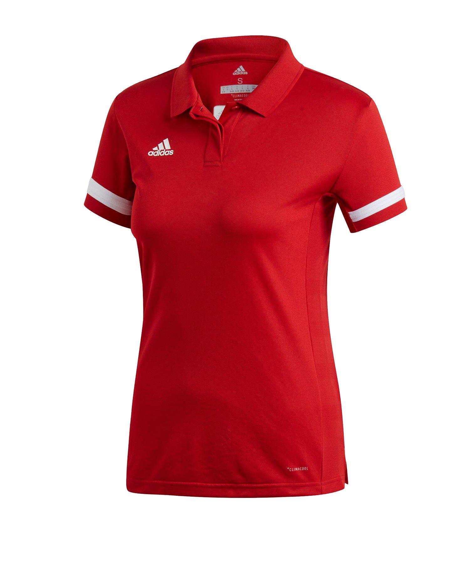 adidas Team 19 Poloshirt Damen Rot Weiss - rot