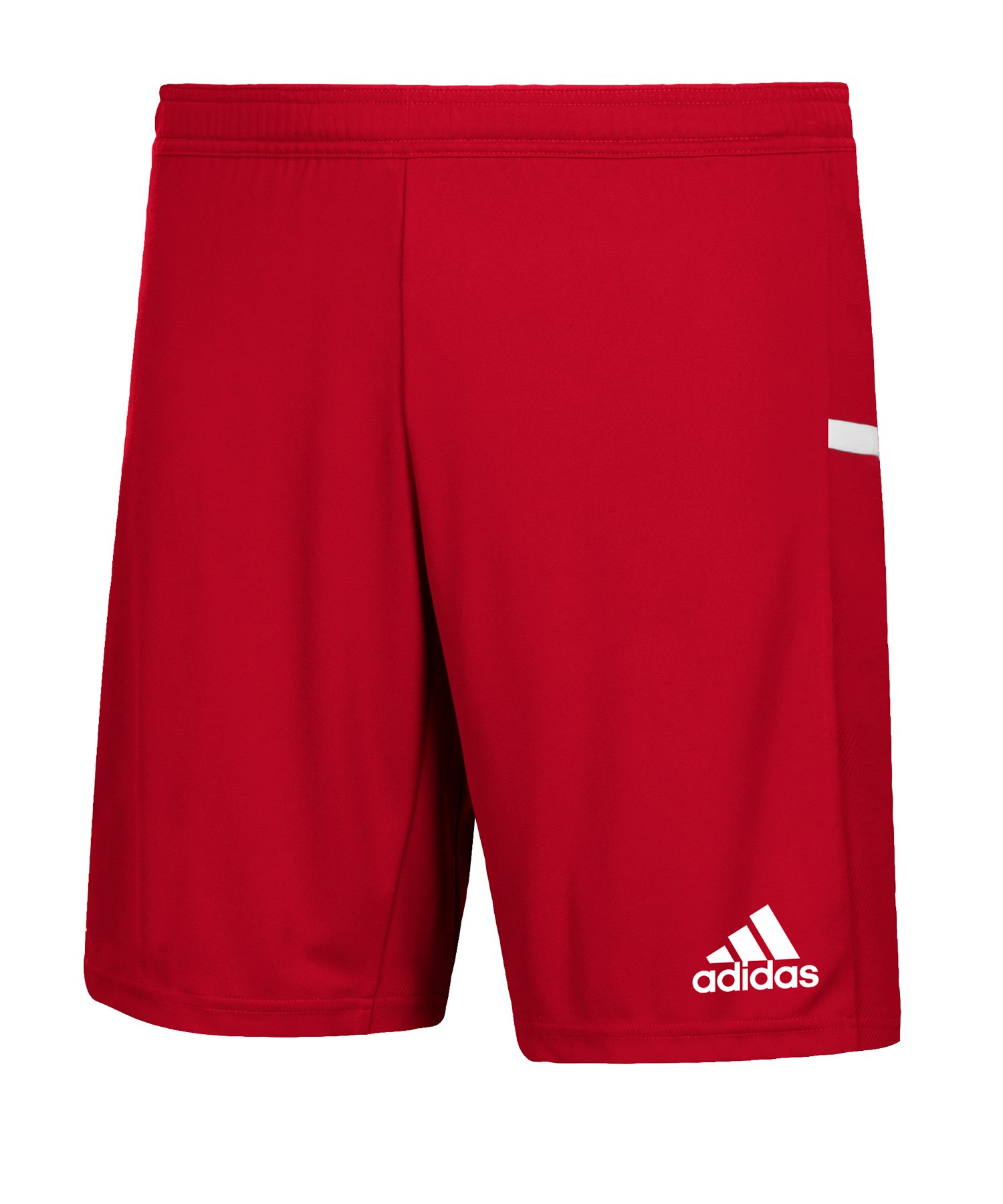 adidas Team 19 Knitted Short Rot Weiss - rot